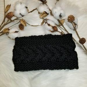 Accessories - Super Cute black Herringbone crotchet ear warmer